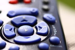 Keypad remote. Remote control buttons on keypad Royalty Free Stock Photos