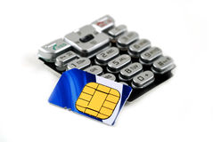 Keypad and sim card Royalty Free Stock Images