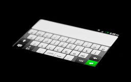 Keypad. Smartphone's keypad with the Enter key highlighted Stock Images