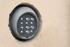 Keypad on the wall. Security code keypad on the wall Stock Images