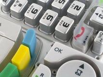 Keypads macro background Stock Images