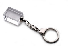 Keyring with  clipping path Stock Image