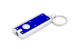 Keyring with flashlight Royalty Free Stock Photo