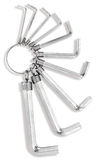 Keyring of hex allen keys Stock Photography