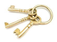 Keys. These are three metal keys Royalty Free Stock Photography