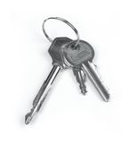 Keys. Shot isolated on a white background with clipping path royalty free stock images