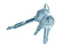 Keys. Shot isolated on a white background with clipping path stock photo