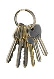 Keys. Isolated on white, clipping path included Royalty Free Stock Photos