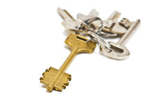 Keys. Solid keys isolated on white Stock Photography