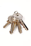Keys. A some keys with shadow on white background royalty free stock photo