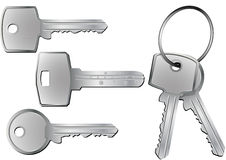 Keys. Illustration of different kind of keys with and without keyring Royalty Free Illustration