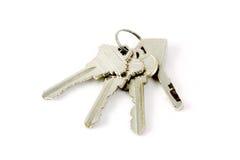Keys. The isolated 4 keys on white background Royalty Free Stock Photo