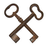 Ancient keys Royalty Free Stock Images
