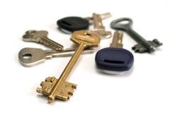 Keys. On a white background Royalty Free Stock Photos