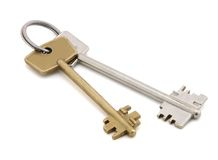 The keys. stock images