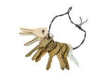 Keys. On a white background Royalty Free Stock Image