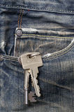 Keys. In a jeans pocket Stock Image