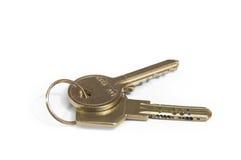 Keys. Two keys isolated on white background Royalty Free Stock Photos