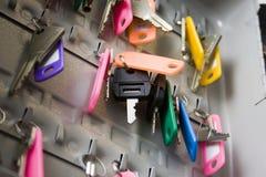 Keys. Hanging keys Royalty Free Stock Photography