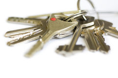 Keys. Many keys isolated on white background stock photography