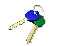 Keys. Created in 3D Studio Max Stock Images