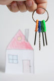Keys. And house Royalty Free Stock Image