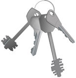 Keys. This image is a vector illustration and can be scaled to any size without loss of resolution Stock Photos