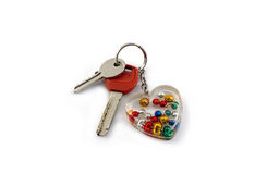 Keys. Cuople of keys and keyring Royalty Free Stock Photography
