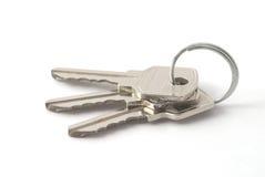 Keys. On the split ring Stock Images