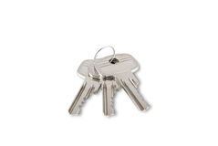 Keys. Three keys are photographed on a white background Royalty Free Stock Photos