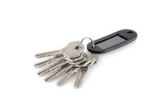 Keys. Six keys are photographed on a white background Royalty Free Stock Photos