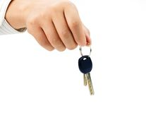 Keys. Businessman hold a key with hand Stock Photo