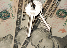 Keys. And money Stock Image