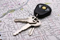 Keys on amp. Travel concept Stock Photo