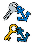 Keys with anchor symbol on tags Royalty Free Stock Image