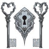 Keys And Key Hole Vector Stock Photo