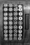 Keys of an Antique Cash Register in Black and White I Royalty Free Stock Photos