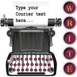 Keys on antique typewriter background copyspace Royalty Free Stock Image