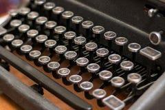 Typewriter. Keys of an antique typewriter royalty free stock photo
