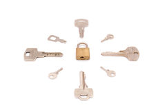 Keys around key-lock Stock Photography