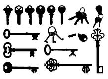 Keys. 16 Keys is available for your designs Royalty Free Stock Photo