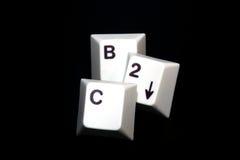 Keys B2C. Single keys that show the word B2C with black background Royalty Free Stock Photos