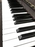 Keys on a beautiful piano royalty free stock photos