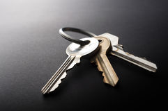Keys on Black Royalty Free Stock Photo
