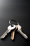 Keys on Black Stock Photo