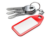 Keys with blank tag. High quality 3d illustration Stock Photography