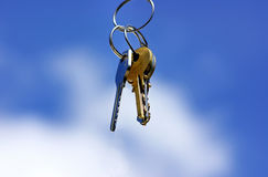 Keys in  blue sky Stock Image