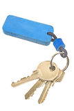Keys with blue tag Royalty Free Stock Photos