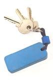 Keys with blue tag Stock Photos