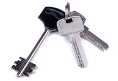Keys. Bunch of keys. Isolated on white background Royalty Free Stock Photo